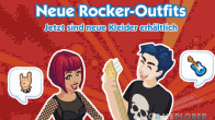 Rocker-Outfit bei The Sims Social