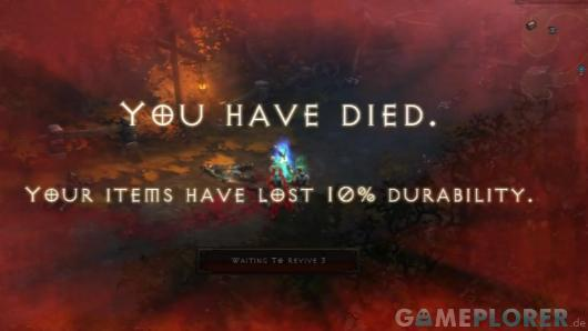 """You have died"" in Diablo 3"