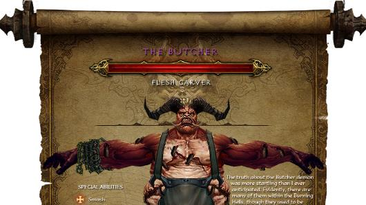 Diablo 3 - Steckbrief The Butcher