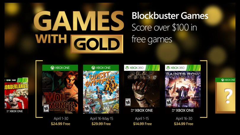 Xbox Games with Gold April 2016