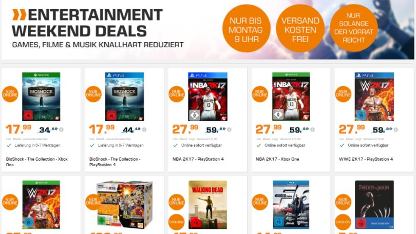 Saturn Entertainment Weekend Deals 03.02.2017