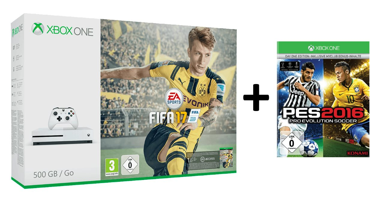 Xbox One S 500GB FIFA 17 PES 2016 Deal